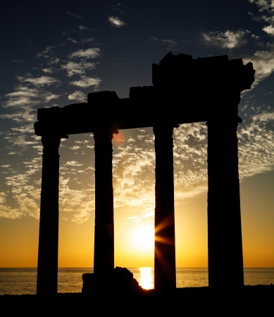 The ruins of an ancient temple in Side, Turkey photo