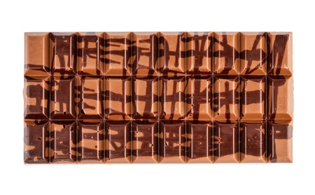 Chocolate bar on a white background photo
