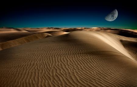 duna: Noche en las dunas de arena del desierto