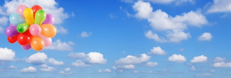 baloons: Blue sky hi resolution 26MP panorama
