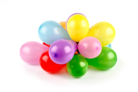 Festive colorful balloons photo