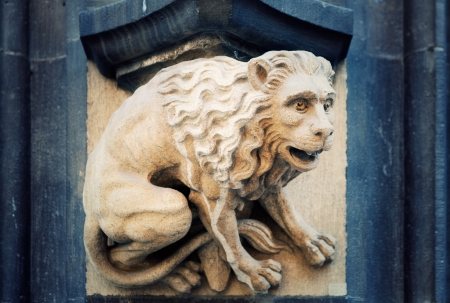 chimera: Chimera on the facade of a medieval church