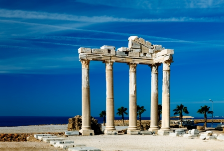 The ruins of a classical Greek temple in Side, Turkey photo