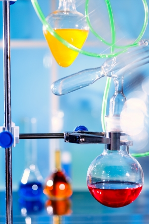 Chemical  setup  in a laboratory photo