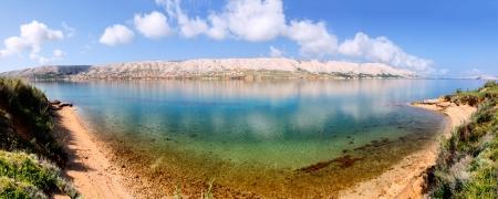 adriatic: Tranquil sea mirror Pag Croatia, Adriatic Mediterranean Sea, nature ща Dalmatia