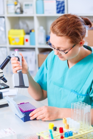 woman in a medical lab