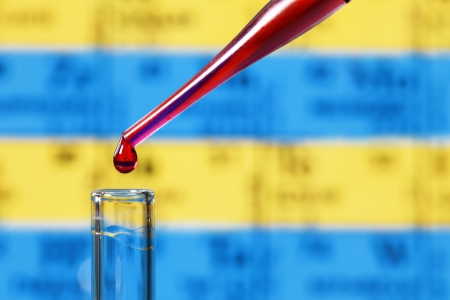 testtube: pipette and test-tube Stock Photo