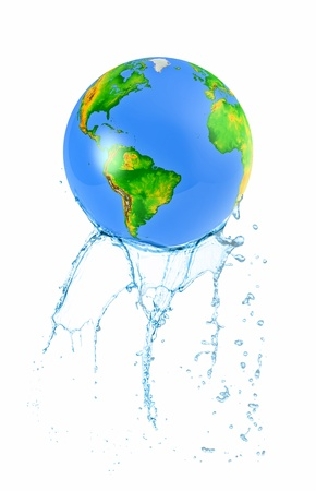 3d globe loses water photo