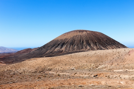 fuerteventura landscape with vulcano photo