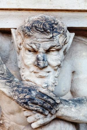 atlantes: Sculpture Atlant support columns