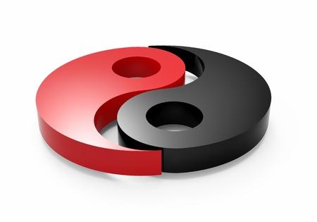 ying yang: Concept illustration of yin and yang
