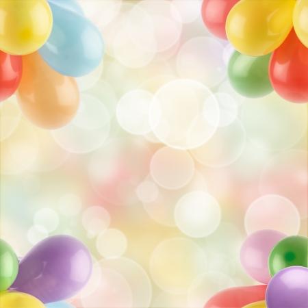 globos de cumpleaños: globos multicolores