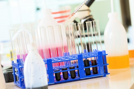 nitrate: Chemical Laboratory. Control the amount of nitrates, herbicides and pesticides Stock Photo