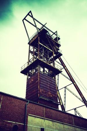 오래된 광산의 탑 스톡 콘텐츠