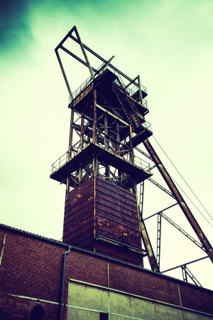 old mining building: tower of the old mine