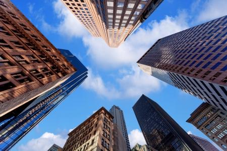 Wolkenkratzer in der Innenstadt Standard-Bild