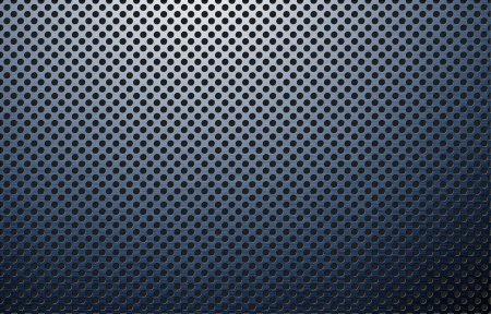 perforated polished metal surface photo