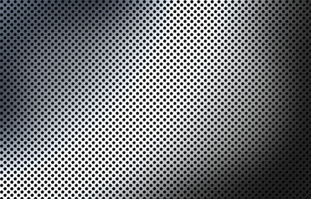 perforated polished metal surface