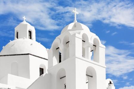 aegean sea: Church on the island of Santorini, Oia, Greece