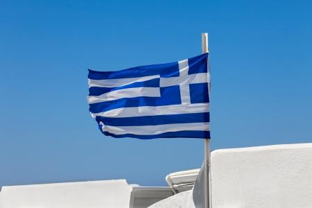 greek flag: Greek flag on  the sky