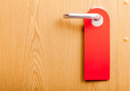 handle: empty door do not disturb sign
