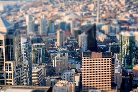 tilt: Seattle birds-eye view, Tittle shift focus effect