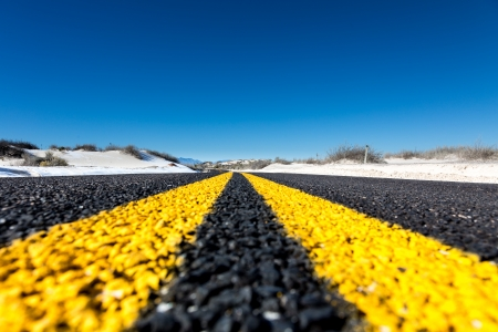 yellow stripes on the highway Stock Photo - 24766648
