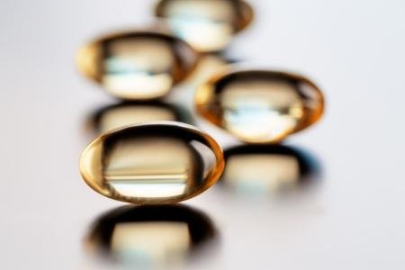 ビタミン オメガ 3 カプセル 写真素材