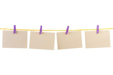blank card on a clothesline photo