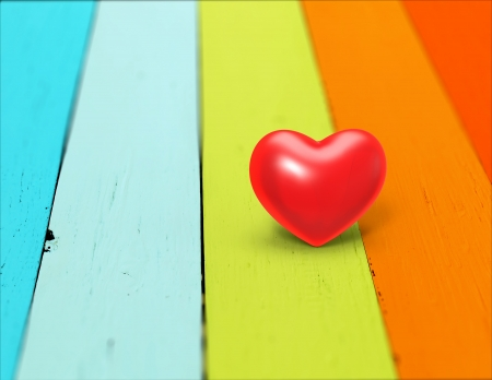 heart on a wood background, Valentine Day Stock Photo - 24930589
