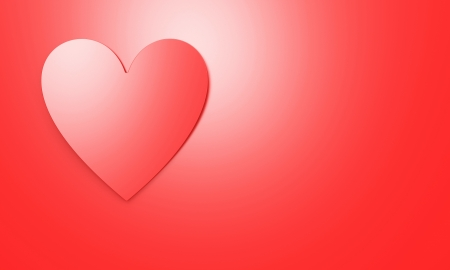 heart on a red background, valentine day photo