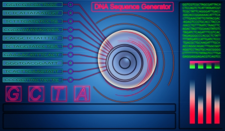 sequencing: DNA sequence generator abstract hi tech background