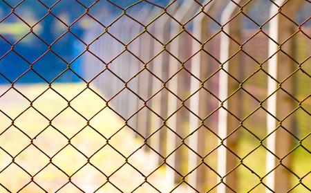 enclosures: Rabitz mesh netting Stock Photo