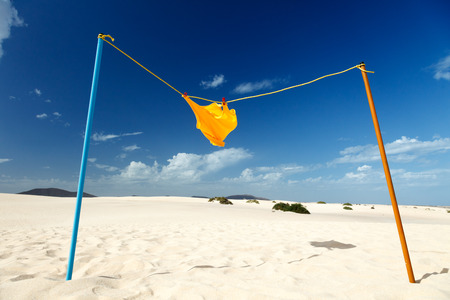 shirt drying on the rope in the desert photo