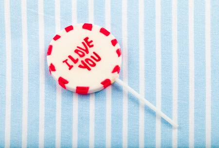 lolipop that says 'I love you' photo