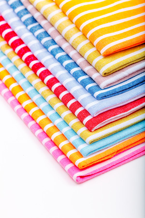 stack of kitchen towels photo