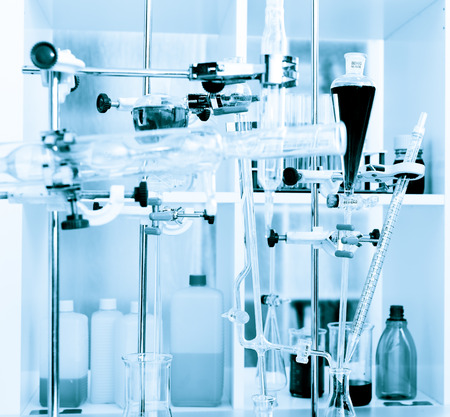 distillery: chemical laboratory experiment Stock Photo