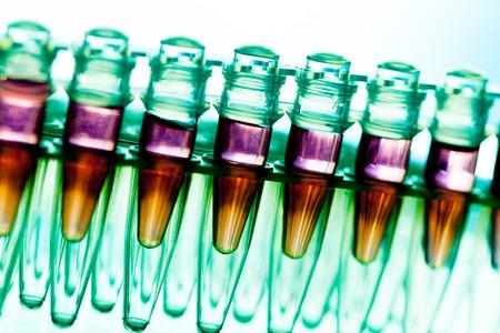 La recherche en laboratoire de maladies cancéreuses, casier à échantillons d'ARN Banque d'images - 27238756