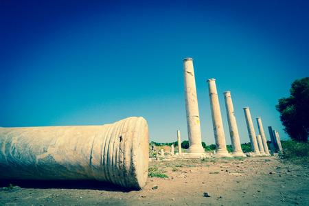teatro antico: Mura del teatro antico di Side