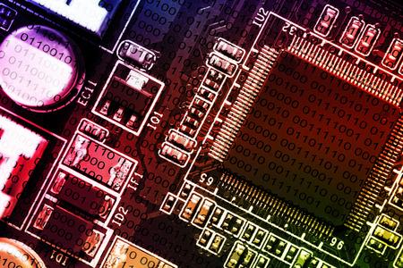 printed circuit board: Microchip on PCB printed circuit board