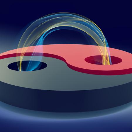 plasma: yin and yang with plasma loop