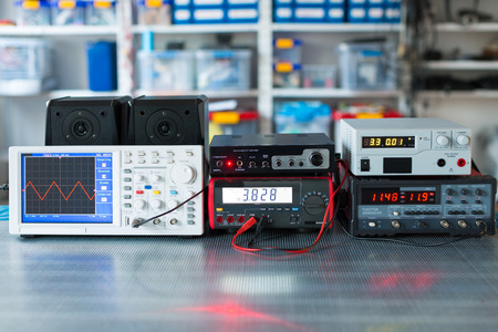 instrument of measurement: Digital measurements devices Stock Photo