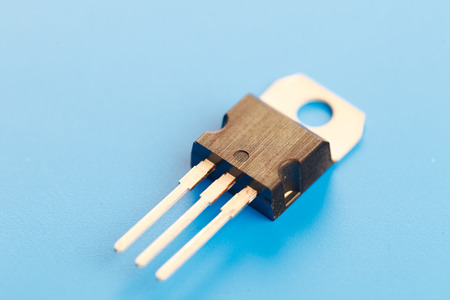 transistor: transistor semiconductor Foto de archivo