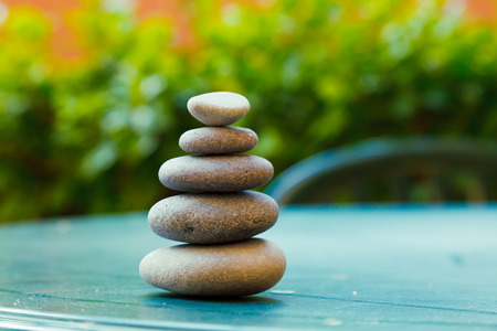 stack stone: Pyramid of pebbles