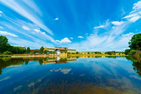 sky reflection: pond with sky reflection