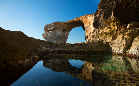 azure coast: Gozo Azure Window Height Malta