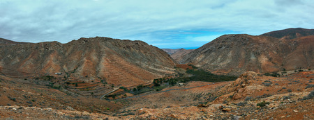 canaria: Panorama of mountains in Gran Canaria islands Stock Photo
