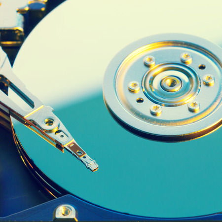 hdd: Open HDD disk, toned photo