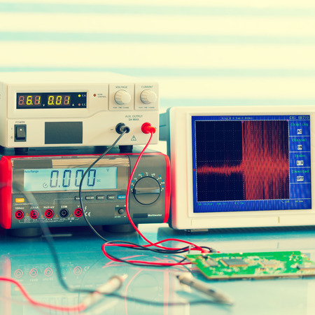 toned: electronic measuring instruments, toned photo