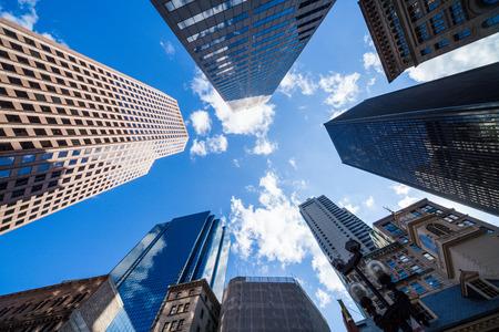 construcci�n: Vista rascacielos Foto de archivo